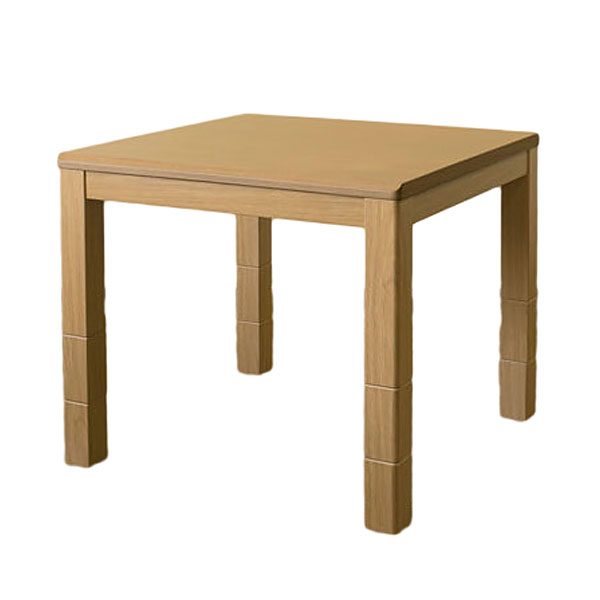 《座卓、ソファ、ダイニングチェアに合わせて使えるコタツ》 サカベ 3段階継脚ダイニングコタツ600W石英管ヒーター80x80SCD-80TNナチュラル