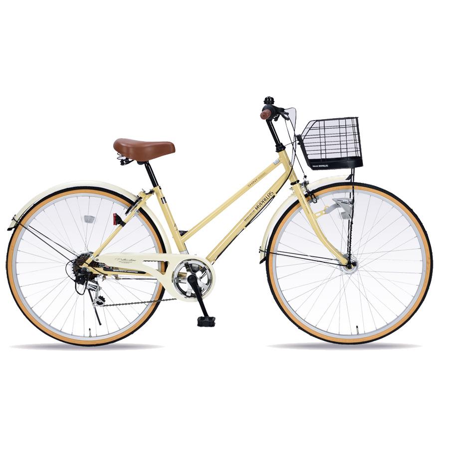 《バスケット・LEDオートライト・リング錠付属のオールインワンタイプ》My Pallas 26インチ タウンサイクルM-501 SHINY-NA