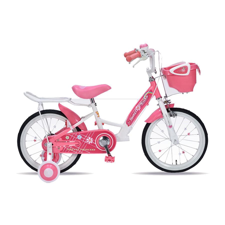 《補助輪&サポートキャリア付きで安心・安全》My Pallas 16インチ 子ども用自転車補助輪付きMD-12-PK