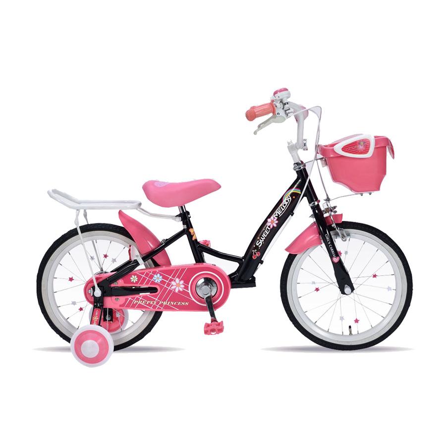 《補助輪&サポートキャリア付きで安心・安全》My Pallas 16インチ 子ども用自転車補助輪付きMD-12-BK