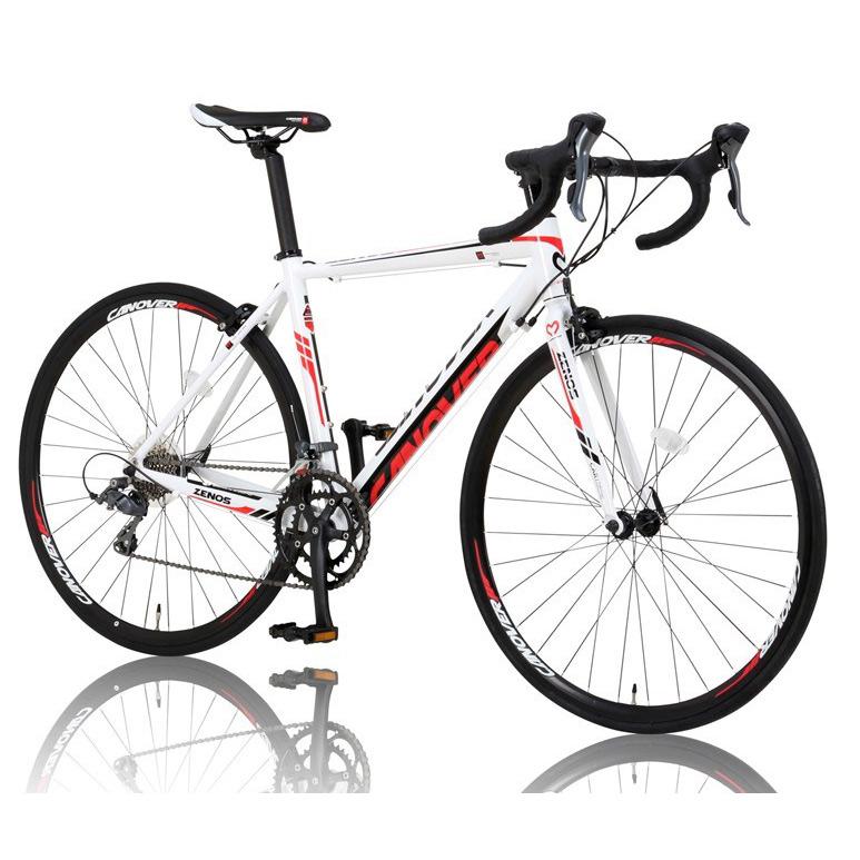 《長距離ツーリングまでこなせるピュアロードレーサー》CANOVER 700x23C 16段変速ロードバイクCAR-011ZENOSフレームサイズ 490mm(27798)ホワイト