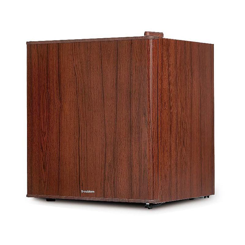 《左右ドア開きに対応。氷を作れる製氷機付き》エスキュービズム 49L1ドアインテリア冷蔵庫WRH-1049DWダークウッド