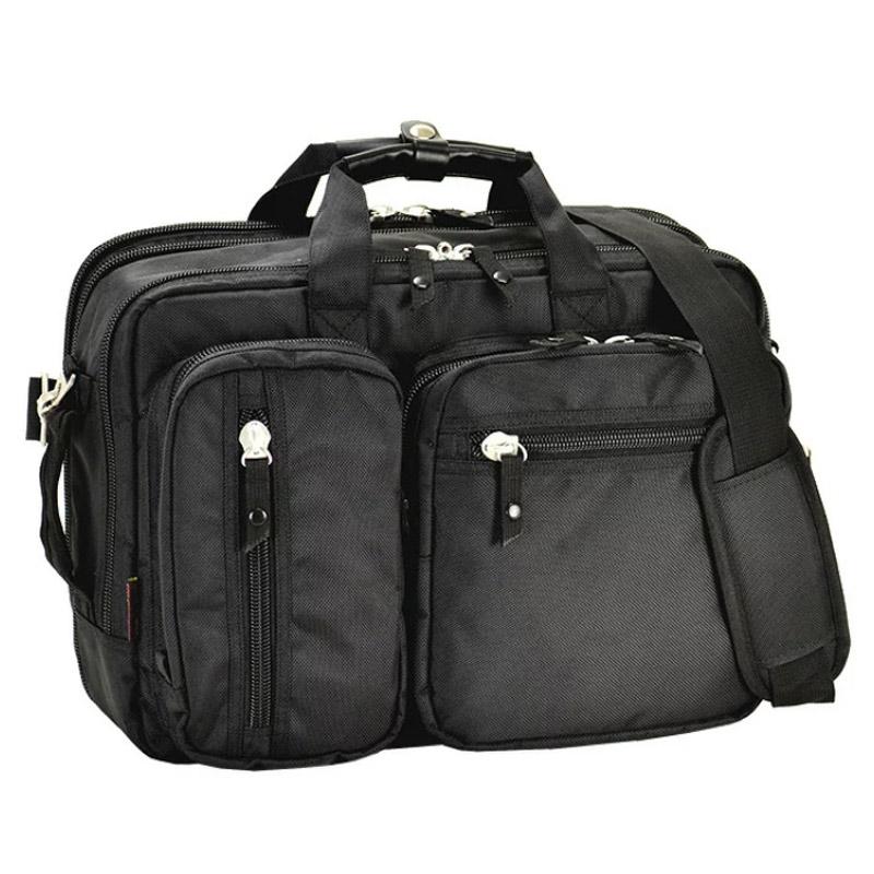 《キャリーケースと合わせれば長期出張や海外出張にも対応》ヒラノ GERMANE GEARビジネスバッグ26614-01(B4サイズ収納可能・Wマチ幅)