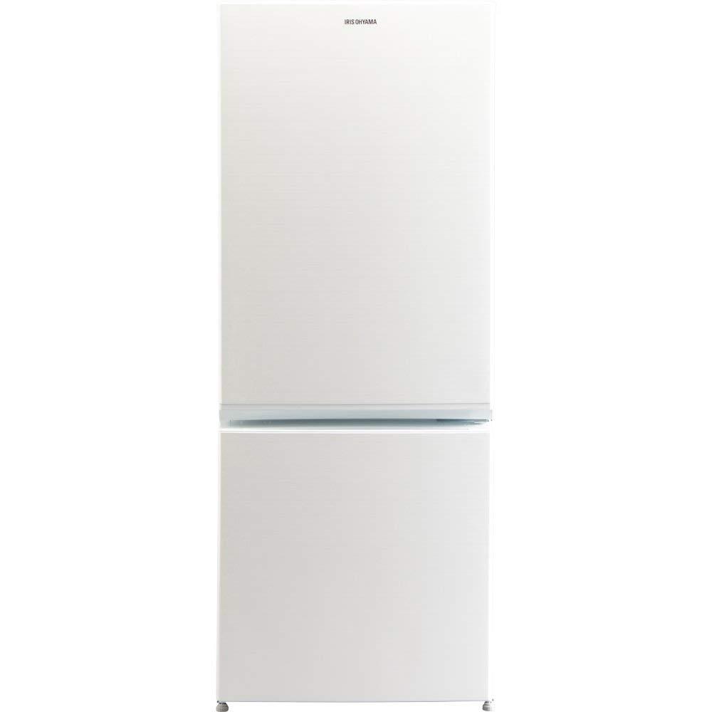 《冷凍食品がたっぷり入る、45Lボトムフリーザー》アイリスオーヤマ156Lノンフロン2ドア冷凍冷蔵庫AF156-WEボトムフリーザー