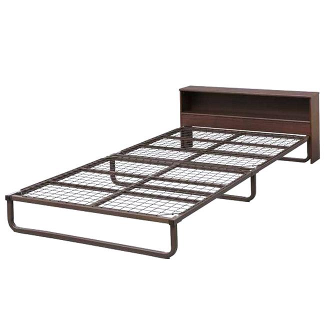 《高さ17.5cmの収納ボックスがベッド下に収まる》アイリスオーヤマ ヘッドボード付きスチールベッドフレームFMB-SBシングルサイズ