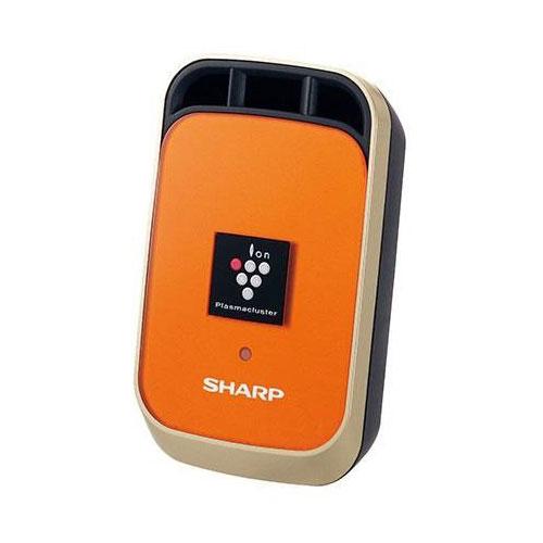 《ワンタッチで取り付け、デスクサイドでも使える》シャープ イオンの力で強力消臭プラズマクラスターイオン発生機IG-KC1-Dマーマレードオレンジ