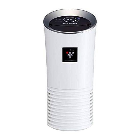 《花粉キャッチフィルター搭載、車内に付着したニオイを消臭》シャープ イオンの力で強力消臭プラズマクラスターイオン発生機IG-LC15-Wホワイト