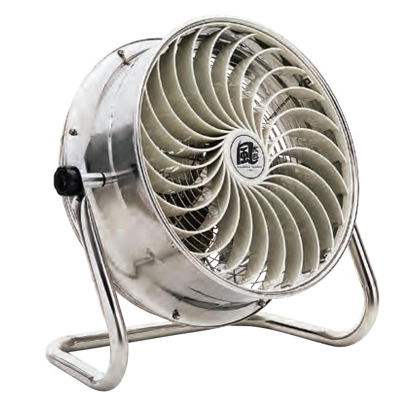 《施設園芸、栽培施設内の送風、工場内、イベント施設内の空気循環に》ナカトミ 羽根径35cm単相100V全閉式モーター採用ステンレス仕様循環送風機CV-3510S