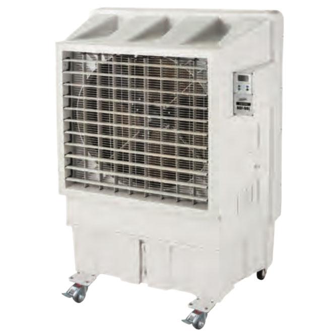 《水の気化熱を利用した大型冷風扇。オートスインク、かんたん給水》ナカトミ 単相100V大型冷風扇(75cm3枚樹脂羽根)BCF-90L(N)タンク容量90L