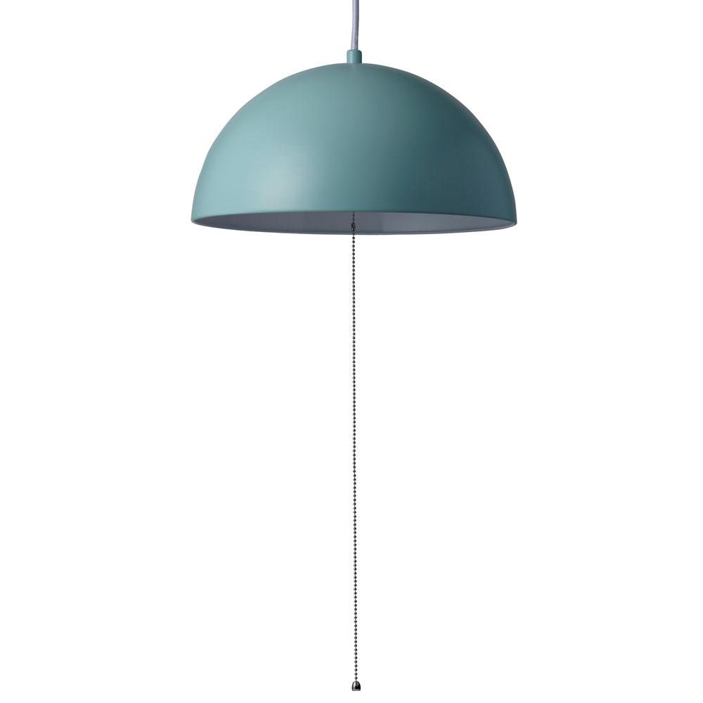 《シンプル&モダンなスチールシェード美しい》イシグロ ペンダントライト(LED球付き) ドーム20920ブルー