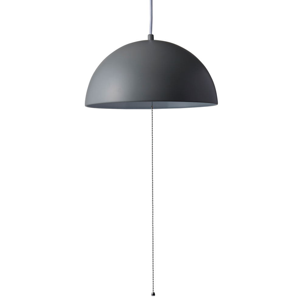 《シンプル&モダンなスチールシェード美しい》イシグロ ペンダントライト(LED球付き) ドーム20922グレー