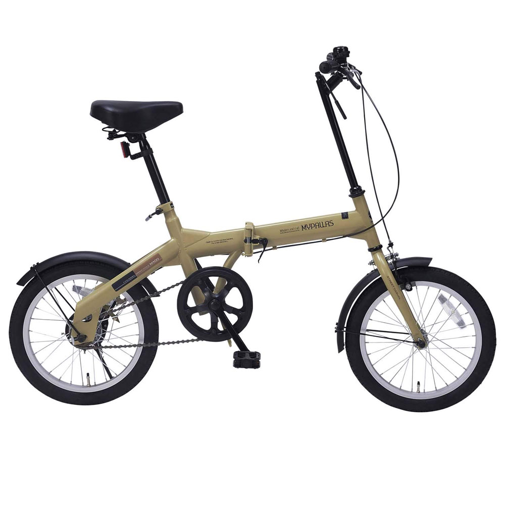 My_Pallas16インチ折りたたみ自転車M-100-CAカフェ、M-100-BKブラック、M-100-GRグリーン