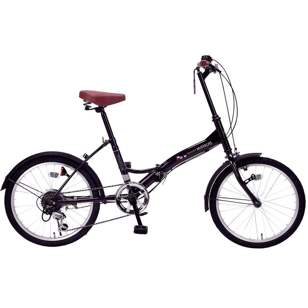 《6段ギア付で快適走行、街乗りに映える4色カラー》My Pallas 20インチ 6段変速折りたたみ自転車M-205-PPディープパープル