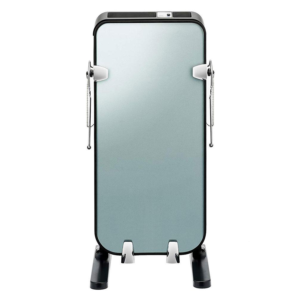 《ガラスパネル採用でプレス結果が見える化》ツインバード ズボンプレッサー SA-D719Bブラック