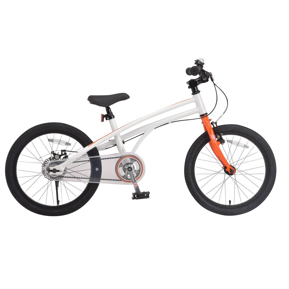 《キッズバイクでもアルミ合金パーツで軽量化を実現》Royalbaby 18インチキッズバイクRB-WE H2 18スタンド付きオレンジ