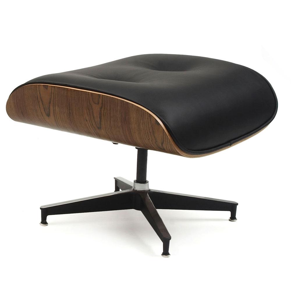 《ミッドセンチュリーのアイコン、生涯付き合える極上の座り心地》INNOVATE イームズラウンジチェアオットマンinv0001-103本革ブラック