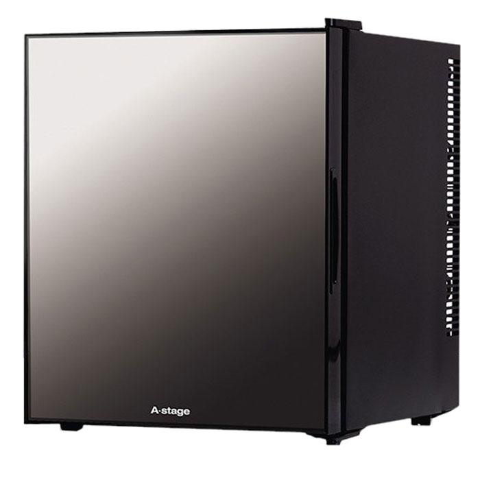 《静音性に優れたペルチェ式を採用。寝室冷蔵庫に最適》エスキュービズム 32Lベルチェ式1ドアミラーガラス冷蔵庫AR-32L01MG