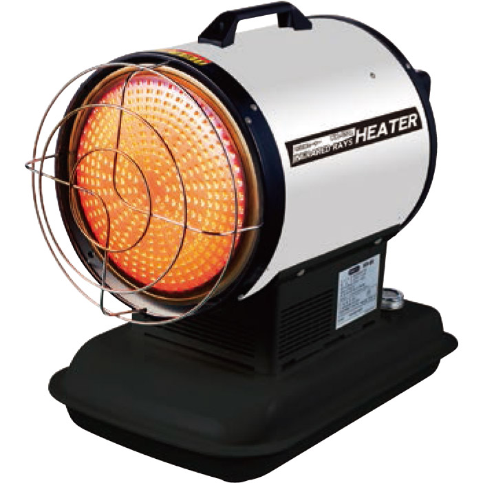 《5つの安全装置を内蔵。スペースを取らないコンパクトサイズ》ナカトミ 赤外線灯油/電気ヒーターKH-65Q(50/60Hz兼用)