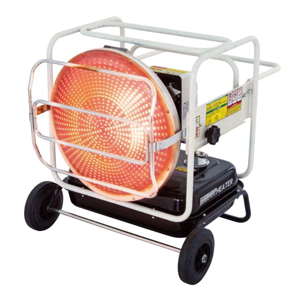 《温風と放射熱の想定外の暖かさ。大口径565mm赤外線放熱板》ナカトミ 赤外線灯油/電気ヒーターKH-115D(50/60Hz兼用)