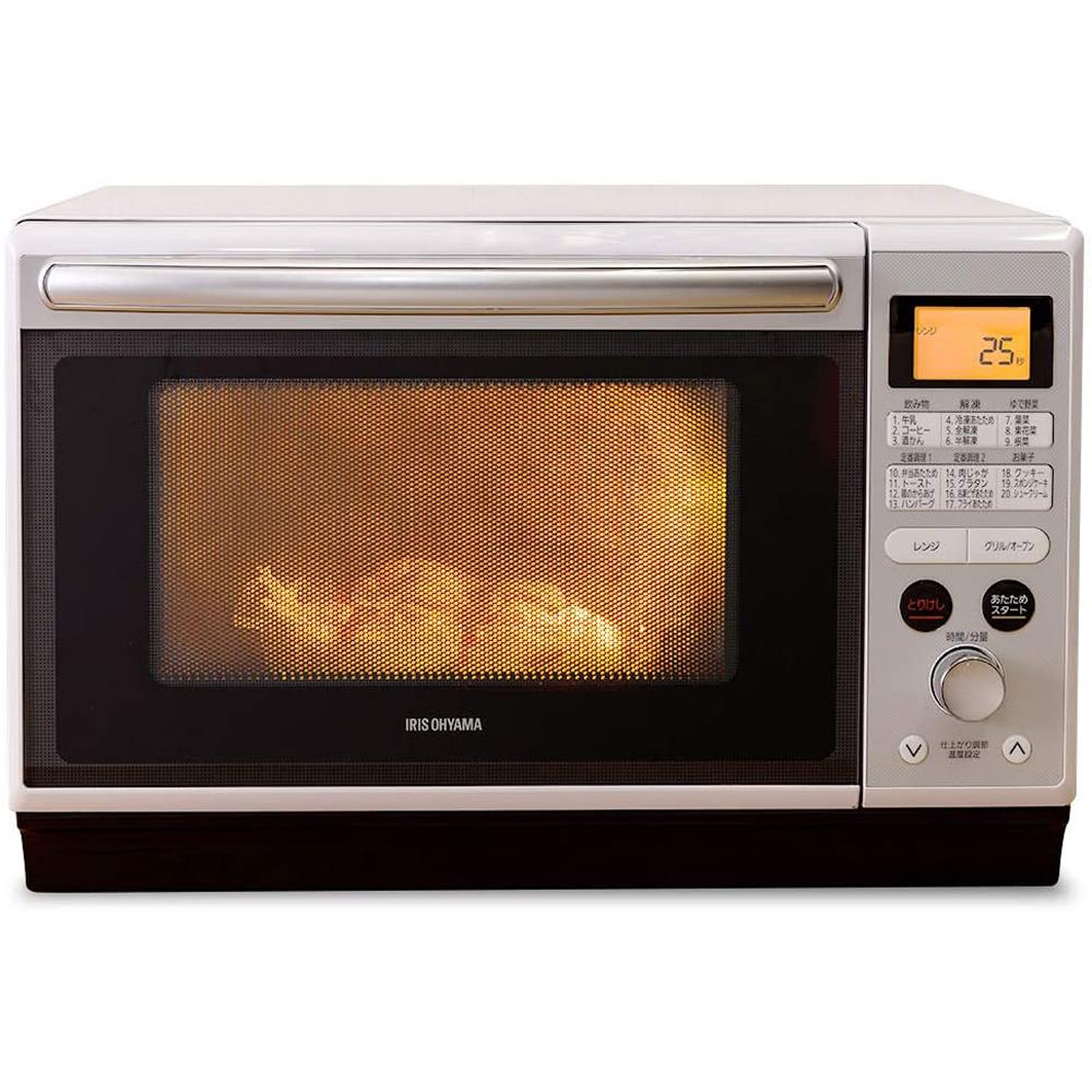 《9種類の温め機能、11種類の自動調理メニュー搭載》アイリスオーヤマ スチームオーブンレンジ24LフラットテーブルMO-F2402