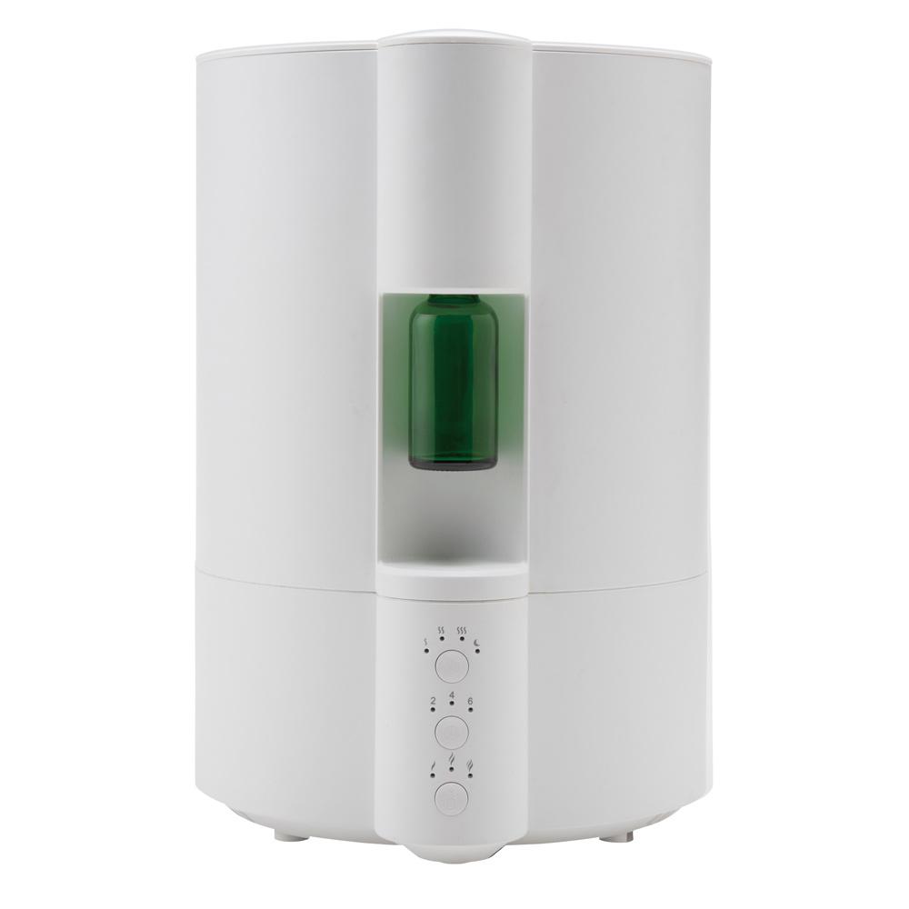 《給水らくらく、上部給水タイプ。容量たっぷり4L》イシグロ ネブライザー式アロマディフューザー搭載超音波加湿器(70083)