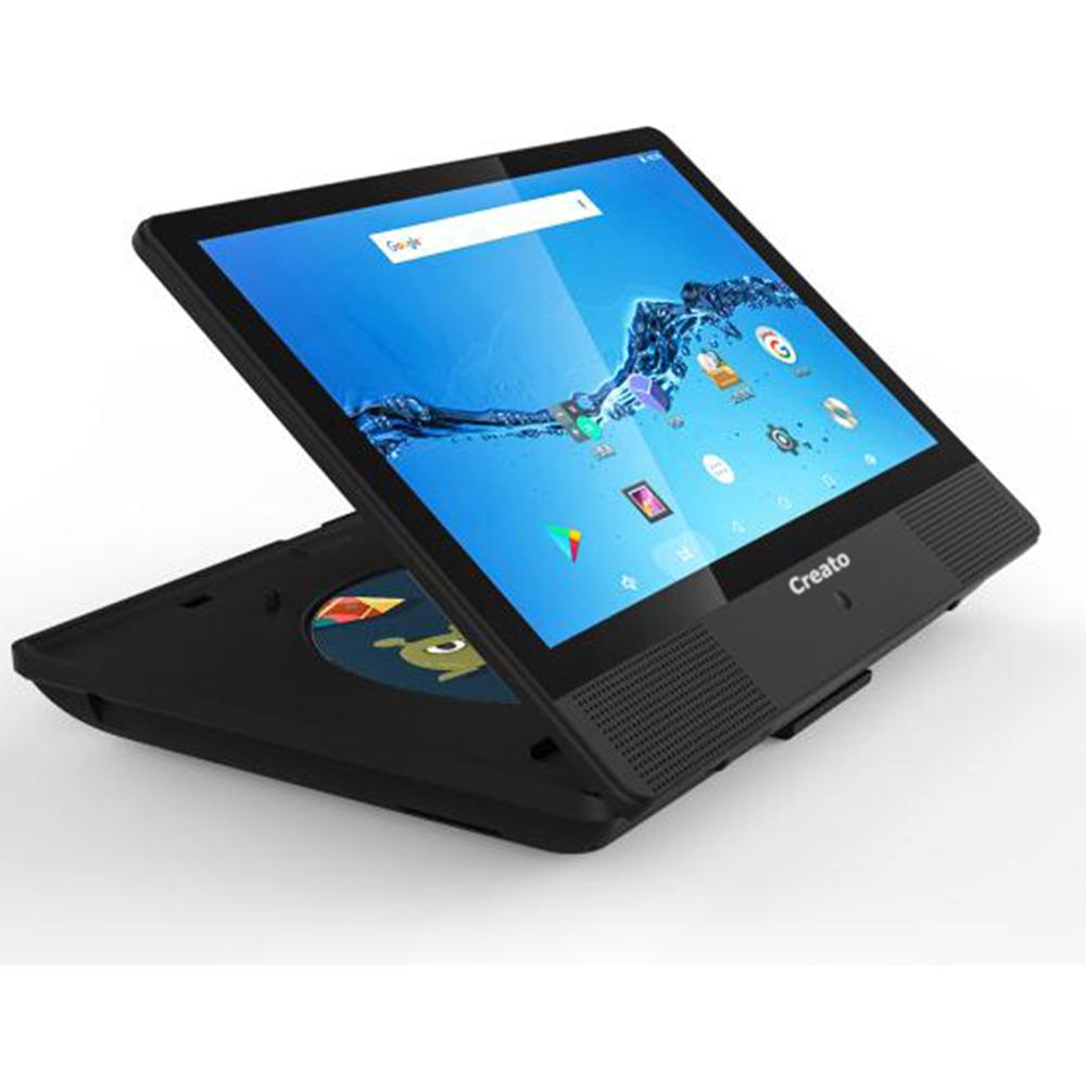 アンドロイドタブレットにDVDプレーヤーをプラス 《ネットもDVDもCDもこれ1台》Creato 10.1インチ WiiFiモデル Android搭載タブレットDVDプレーヤーDVT-101B 引き出物 新着セール