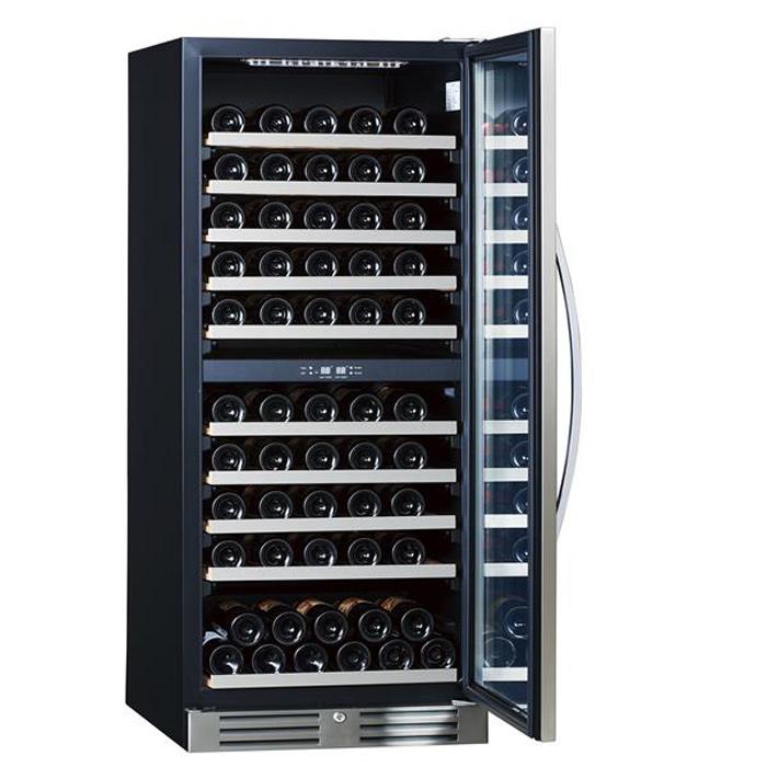 丈夫なステンレスフレームでワインを守る 三ツ星貿易 Excellence 100本 全国一律送料無料 当店限定販売 312L ファン式ワインクーラーMS-312C