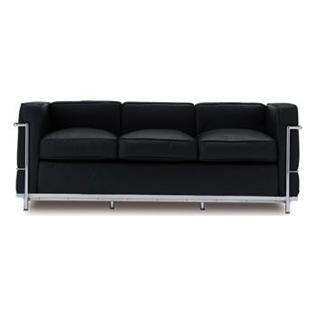 《世界的傑作のソファがくつろぎを描きます》ル・コルビジェ LC2SOFA_3P_001 LC2グランコンフォートソファ 3人掛け