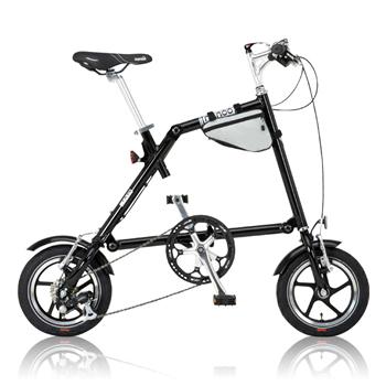 【代引き不可】NANOO NANOO FD-1207 18360 折り畳み自転車 ブラック フレーム460mm