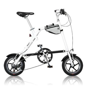 【代引き不可】NANOO NANOO FD-1207 18361 折り畳み自転車 ホワイト フレーム460mm