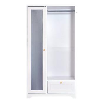 Anri AN150-80H フェミニン家具シリーズ ミラー付ハンガーラックAN