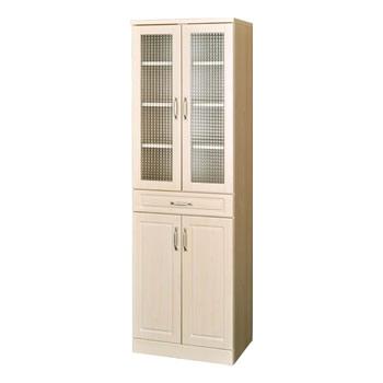 Pure PAS180-60G ホワイトナチュラル家具シリーズ カップボード(高さ180cm)