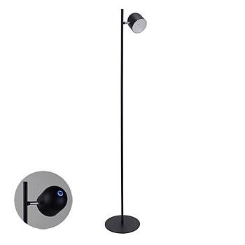 《タッチセンサー搭載。無段階調光でお好きな明るさが選べる》イシグロ LEDフロアライト 1灯 20186 ブラック
