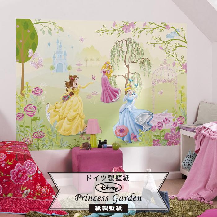 [5%OFFクーポンあり]ディズニー ドイツ製壁紙 【1-417】Princess Garden《即納可》[おしゃれ 壁紙 のりあり DIY リフォーム ディズニー Disney プリンセス シンデレラ 美女と野獣 ベル 眠れる森の美女 オーロラ姫 子供部屋]