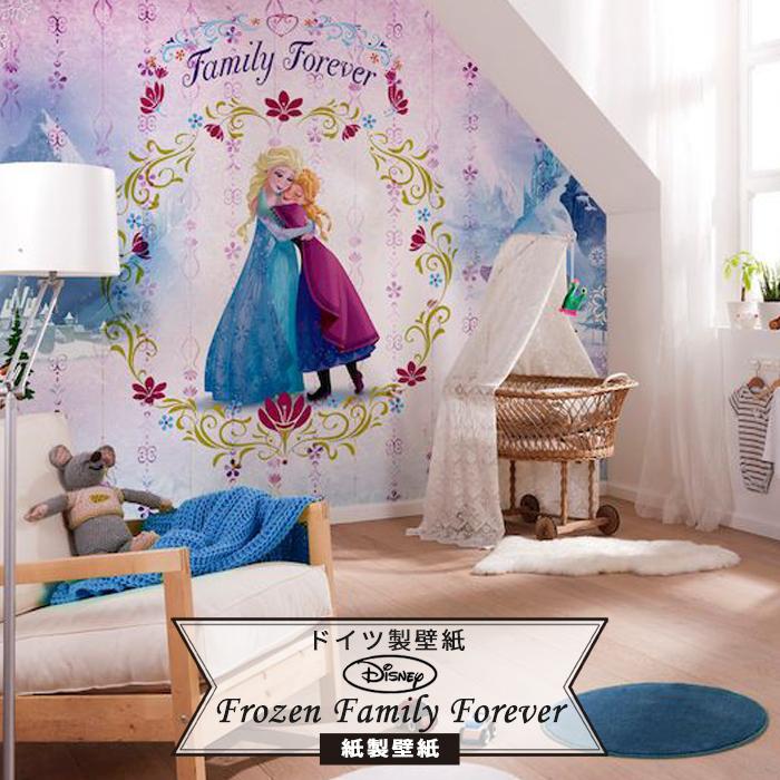 壁紙 ディズニー ドイツ製 【8-479】Frozen Family Foreverおしゃれ 壁紙 のりあり DIY リフォーム ディズニー Disney プリンセス アナと雪の女王 アナ雪 エルサ アナ オラフ 子供部屋