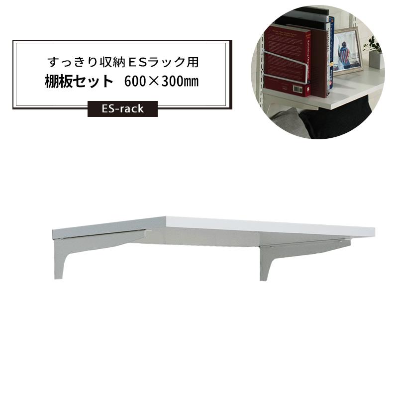 [5%OFFクーポンあり]棚柱 すっきり収納ESラック用 棚板セット 600×300mm《約5日後出荷》
