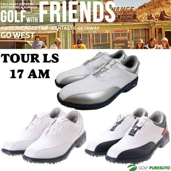 【即納!】キャロウェイ ゴルフシューズ メンズ ツアー LS 17 AM 247-7983500 [Callaway Tour 靴 ダイヤル式 2477983500][送料無料]【あす楽対応】