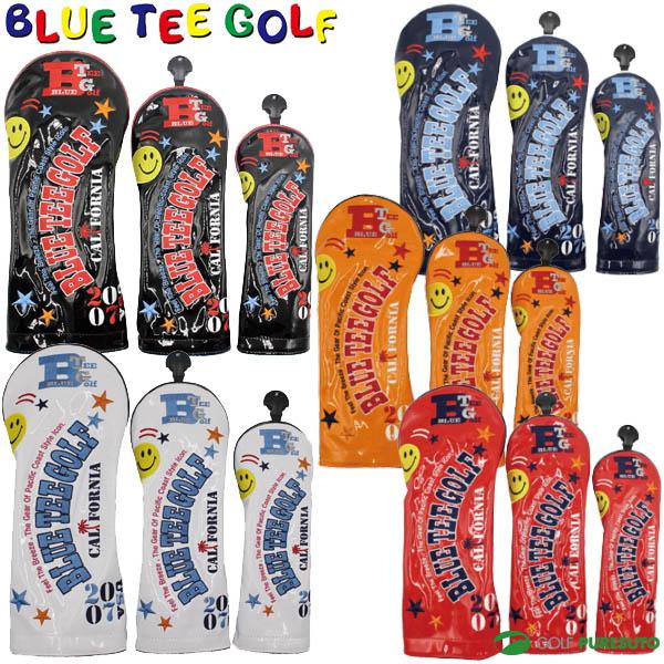 BLUE お得なキャンペーンを実施中 TEE GOLF California ブルーティーゴルフ ヘッドカバー 通販 激安 ユーティリティー用 2018エナメル ドライバー用 フェアウェイウッド用 HC-011