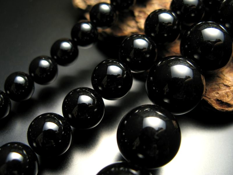 特価 卸価格天然石ビーズ 大幅にプライスダウン 激安宣言 14mm珠 一連 ブラックオニキス 約40cm パワーストーン ビーズ 極上 天然石 geki