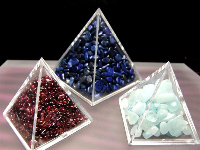●3cm【ピラミッド ケース】 お持ちのさざれ石でピラミッドに♪ レアストーンさざれにピラミッドパワー注入!!【Sサイズ】