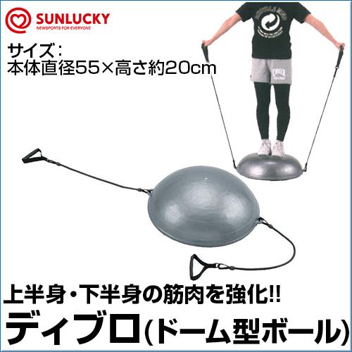 【SUNLUCKY(サンラッキー)】 ディブロ 【ディブロ】 インナーマッスル エクササイズ バランスボール 筋力トレーニング 上半身 下半身