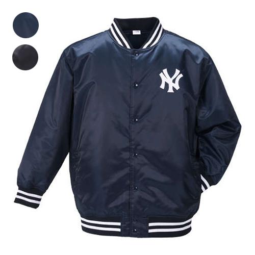 【大きいサイズ】【メンズ】 Majestic ロゴサテンジャケット 3L/4L/5L/6L ビッグサイズ ニューヨーク・ヤンキース