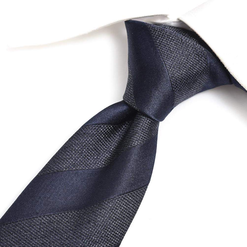エルメネジルドゼニア Ermenegildo Zegna ネクタイ メンズ シルク 100% レジメンタル ネイビー 紺 ブラック 黒 イタリア ブランド イタリア製 MADE IN ITALY ビジネス ギフト