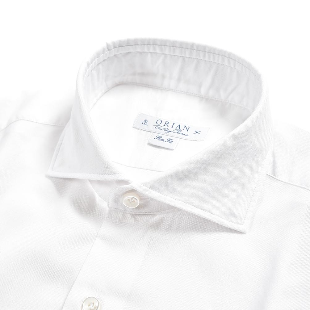 サイズ 38 39 40 41 クリアランス 半額以下 オリアン ORIAN Vintage Classic シャツ 即出荷 ワイシャツ ホリゾンタルカラー 長袖 Slim 春夏 メンズ ビジネス L ホワイト イタリア IN ITALY M コットン Fit MADE ブランド 100% S 激安格安割引情報満載