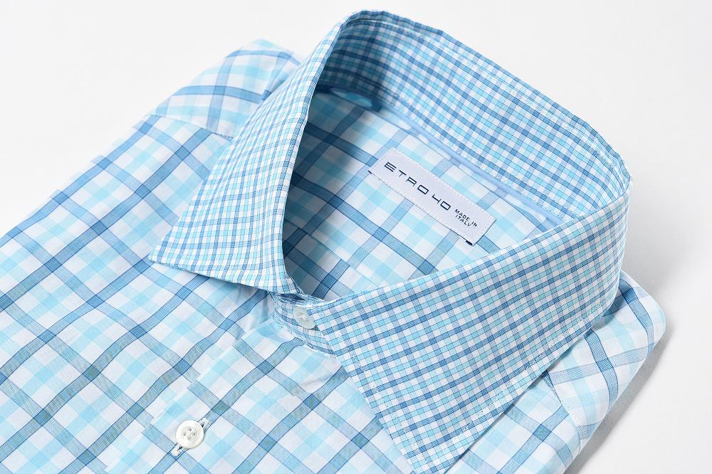 エトロ ETRO 【送料無料】ドレスシャツ チェック 長袖 コットン 100% メンズ ブランド イタリア【あす楽対応_関東】