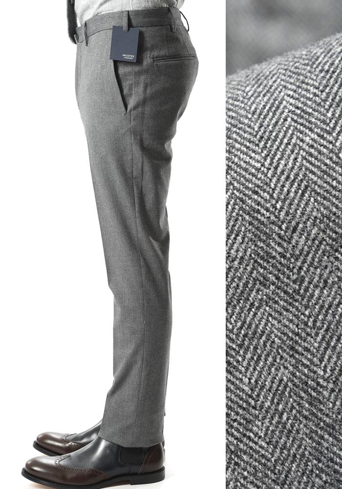 INCOTEX インコテックス 【送料無料】28モデル スラックスパンツ ノータック ウインター コットンストレッチ 秋冬 メンズ ブランド【あす楽対応_関東】
