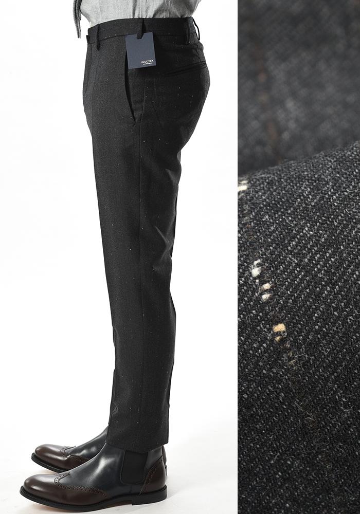 INCOTEX インコテックス 【送料無料】28モデル スラックスパンツ ジップフライパンツ ノータック ウール 秋冬 メンズ ブランド【あす楽対応_関東】