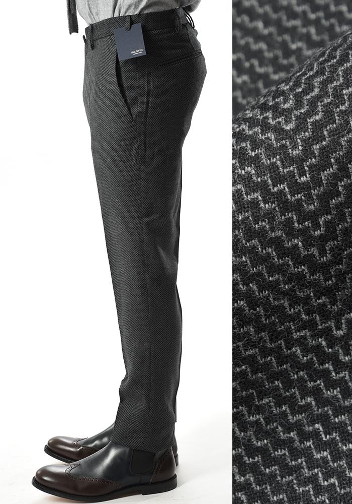 INCOTEX インコテックス 【送料無料】28モデル カシミヤ混 スラックスパンツ ノータック ウール カシミヤ 秋冬 メンズ ブランド【あす楽対応_関東】
