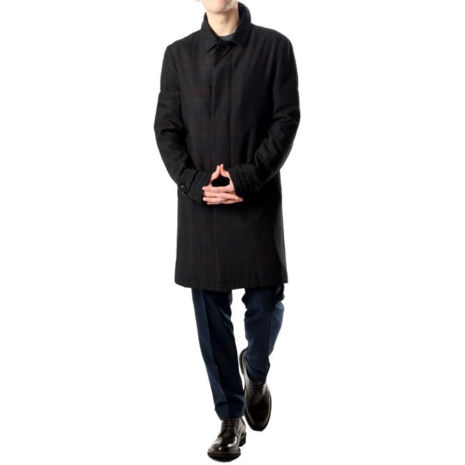 イーヴォ Hevo 【送料無料】トレンチコート 総柄 ポリエステル100% メンズ ブランド イタリア【あす楽対応_関東】