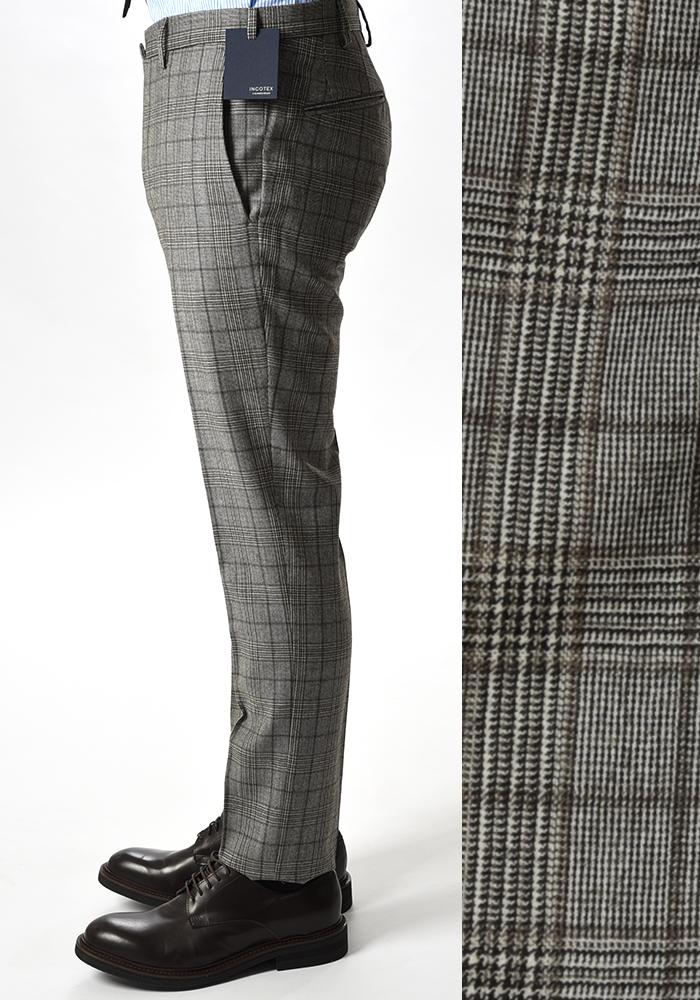 INCOTEX インコテックス 【送料無料】28モデル スラックスパンツ ジップフライパンツ ノータック ウール100% 秋冬 メンズ ブランド【あす楽対応_関東】